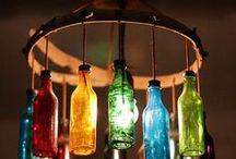 lampy z butelek, lamps from bottles