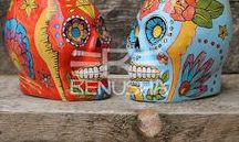 Tiki mugs by Benusha - ceramika / Tiki, mugs, pottery, ceramic, hand-made, hand-painted