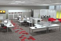 Show me my new OFFICE / A selection of how some of our desk/workstations systems look in their Office Environment. If you are shopping for a new fit-out we can generate an image of how your Re-fitted Office will look.