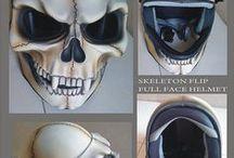 Moto helm and mask art