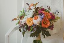 In Full Bloom / A garden for you to carry - Dahlias, Scabiosa, Gravity Roses, Peonies, Larkspur, Sunflowers, Seeded Euc, Hydrangea, Polo Roses, Wax Flower, etc