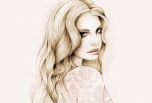 Inspiring Illustrations / Illustrations and aquarelle portraits that inspire me :)