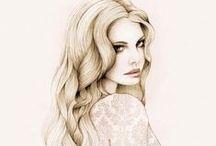 Inspiring Illustrations / Illustrations and aquarelle portraits that inspire me :)