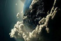 The sun, moon and stars