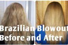 Hair / Hair, hairstyles, long hairstyles, blonde hair, keratin treatments, Brazilian blowouts, updos