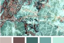 Colour Palette Inspo For Home & Work / I create for a living making children's toys with my Mum. I am always looking at fabric, choosing things that i know other people will like. Colour is a massive part of why i love art.