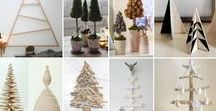 Alternative Christmas Tree Inspiration / DIY Christmas Trees. All kinds of trees created out of alternative sources.