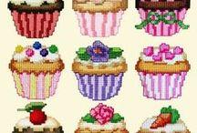 Vyšívání - dortíčky