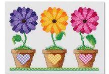 Vyšívání - květiny