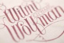 Lettering / Calligraphy / Typography