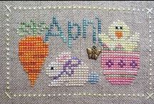 CROSS STITCH➡easter