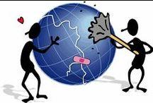 La guerra no está bien / Los medios y la lucha económica crean guerras y nos hacen creer cosas que no son, sólo para enriquecer a unos pocos