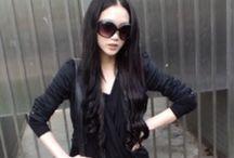 :) black