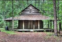 Good Cabins / Out in the woods. Or up a mountainside.