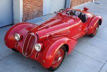 Alfa Romeo / Beautifull Alfas. Most of them are red.