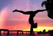 Yoga / I want to become addicted to yoga. I want to be able to do EVERY position, because it actually is possible! My dream is to become a yoga instructor at a beautiful beach!