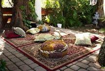 Berber Bohemian Backyard / I want to transform our back yard into a beautiful bohemian tribal dream.....