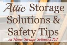 Attic Storage Ideas / attic storage.... you can make great use of that wasted space in the roof/attic