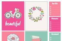 Organising Printables / Here you will find printables, labels and stickers that will not only keep you organised but will also make your planner beautiful and fun to work with!