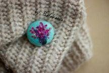 войлочные броши / Woolart, войлочные броши, брошь из шерсти, фелтинг, войлок, рукоделие, handmade, валяние, брошь ручной работы, цветы, панда, feltingwool, woolart,