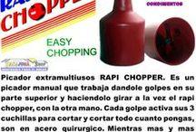 Super Picadora De Verduras Y Frutas Rapi-chopper + Obsequio