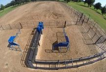 Priefert Roping and Riding Arena's / Choose from one of Priefert's pre-configured arena designs or build your own. We also have all the great accessories that you need to keep your arena in top shape.