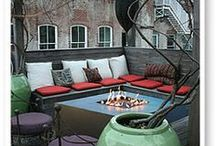 Firescapes / Fire in the landscape, fire pits, fire places, fire tables.