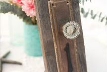 Rustic table numbers / Check out these unique ideas for table numbers.  Really makes a nice addition to your guest tables!