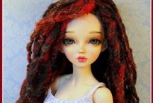 BJD MSD MiniFee Doll Clothes and Wigs / BJD MSD Clothes and Wigs - Minifee dolls and same size ball jointed dolls