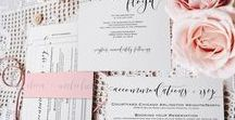 Invitations / Samples from our work so far this wedding season!