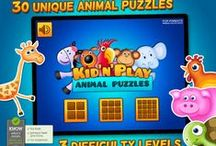 Kids & Play Animals Puzzles for Toddlers and Preschoolers / A puzzle game with lovely images of animals including dog, giraffe, hippo and many more. Avaliable for iPhone and iPad