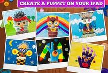 Puppet Workshop - Creativity App for Kids / create various puppets on iPad