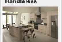 Handleless Kitchen designs / A selection of Handleless kitchen designs from Units Online - www.unitsonline.co.uk