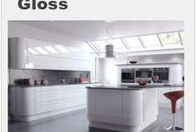 Gloss Kitchen Designs / A selection of Gloss kitchen designs from Units Online http://www.unitsonline.co.uk/gloss-kitchens