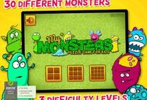 Kids & Play Friendly Monsters / A puzzle game with 30 different monsters and 3 difficulty levels. Available for iPhone and iPad.