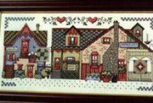 borduren huisjes