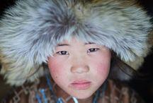 Mongolian kids / Traditional way of life of Mongolian kids.