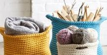 CROCHET RUGS AND BASKET