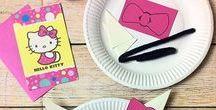 Hello Kitty   Kindergeburtstag / Planst Du eine Hello Kitty Geburtstags-Party? Wir haben hier ein paar süße Ideen rund um Einladungen, Deko, Essen und Kuchen zusammen getragen, mit denen Du ganz einfach eine Mottoparty zum Hallo Kitty -Thema veranstalten kannst. Mit den aüssen Malvorlagen hast auch ein mettes und günstiges Mitgebsel. Viel Spass dabei! Viele schöne weitere Ideen findest Du auch bei blog.balloonas.com