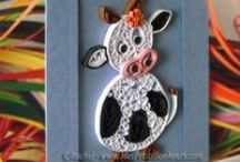 Quilling - Paper Filigree / DIY paper crafts - Bricolages en papiers ave tutos dans mon blog