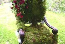 Kerti dekoráció - Garden decoration DIY / Ötletek a kert szépítéséhez.