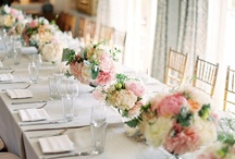 Pretty table settings/flowers