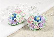 polymer clay DIY flowers