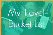 My Travel Bucket List / I'm just a black woman trying to discover the world. The wanderlust bug has bit me and I'm forever addicted! Travelista on the rise!