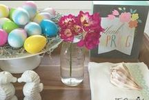 HELLO SPRING / Spring and Easter Decor, Printables, Brunch Ideas and Kids Fun