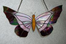 Tiffany: Vlinders / Gekleurd glas