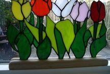 Tiffany: Tulpen / Gekleurd glas