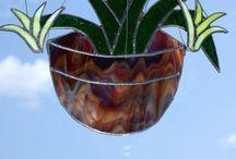 Tiffany: Bloemen en planten / Gekleurd glas