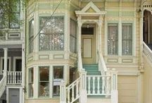 Victorian Exterior Color Schemes, ETC. / houses, fences, landscape for Victorian style
