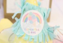 Pastel rainbow/icecream party / Pastel rainbow first birthday